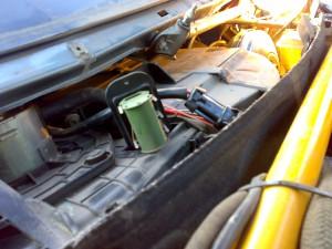 Резистор печки ВАЗ 2110 со снятым жабо