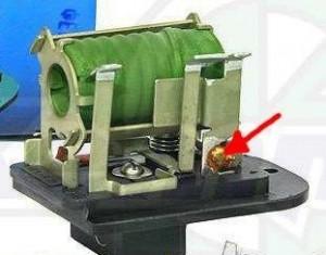 Резистор печки ВАЗ 2110 РДО 2110-8118022-01 с указанным отпаивающимся термопредохранителем