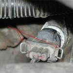 Датчик скорости на КПП приводом спидометра и наконечником гибкого вала привода спидометра
