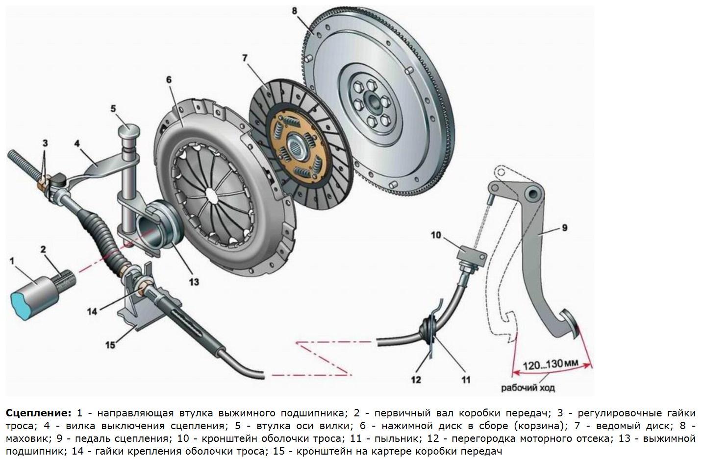 Сцепление автомобиля – назначение, типы сцепления, устройство, принцип работы