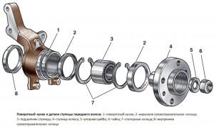Схема ступицы переднего колеса