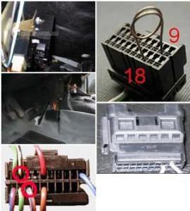 Замкнутые 9 и 18 провода в разъеме