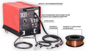 Сварочный полуавтомат с проволокой для сварки с углекислотой