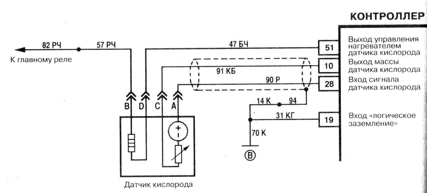 Электрическая схема лямбда зонда