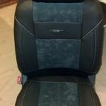 Кресло с закрепленными нагревательными элементами скрыто под чехлом
