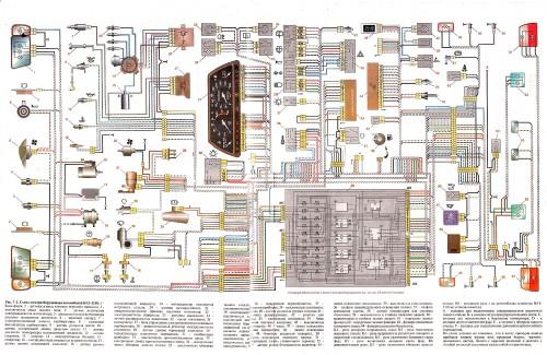 Электрическая схема инжекторного автомобиля