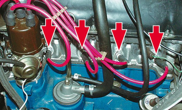 Свечи в цилиндрах ВАЗ 2107