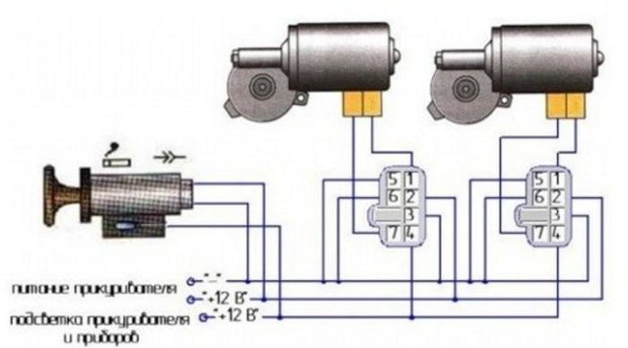 Схема подключения моторов ЭСП