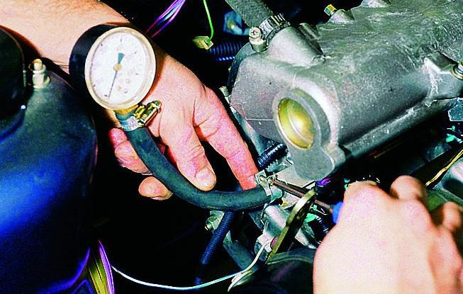 Измерение давления топлива в рампе