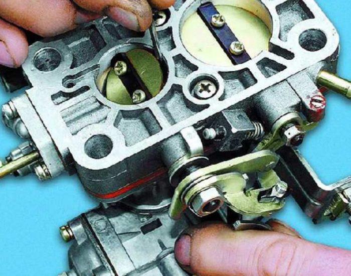 Измерение зазора дроссельных заслонок карбюратора автомобиля ОКА