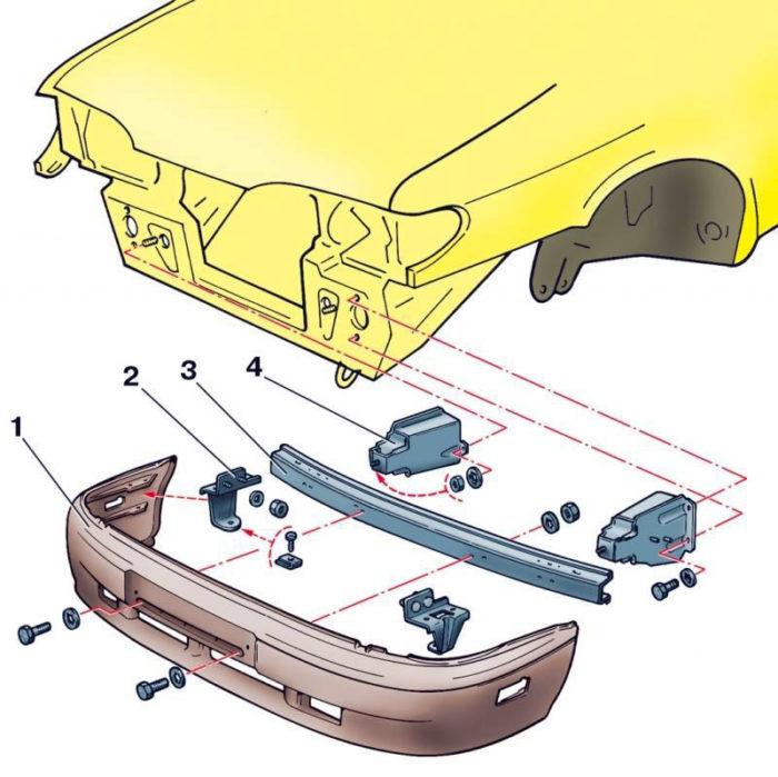 Монтажная схема переднего обвеса