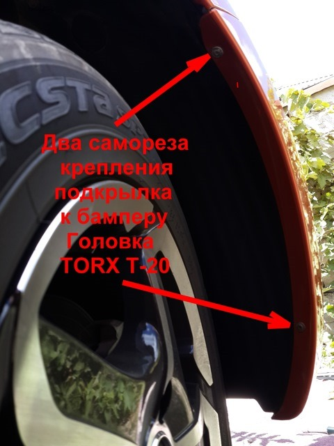 Крепление бампера в колёсных арках