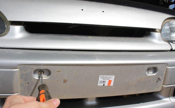 замена бампера ваз 2114