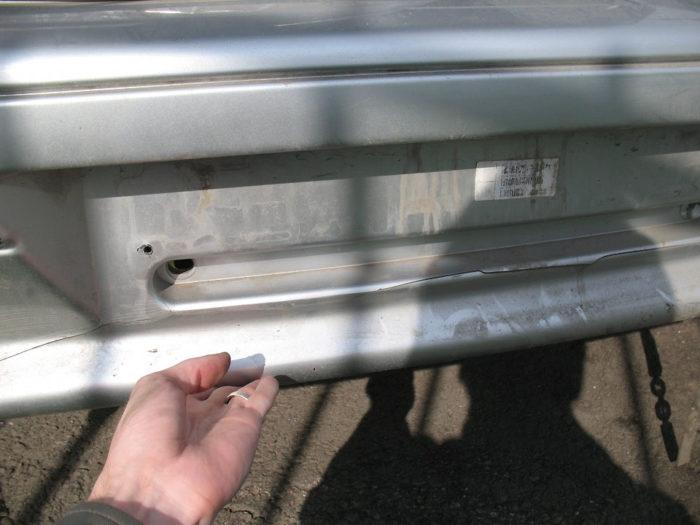 Трещина на бампере ВАЗ 2115