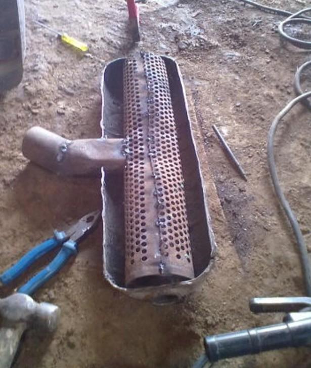 Глушитель ВАЗ 2109 с боковой трубой