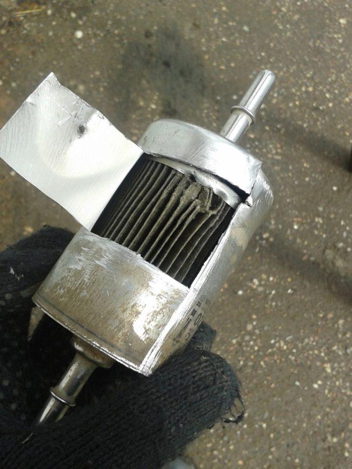Засорённый топливный фильтр