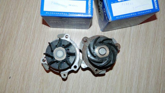 Водяной насос «Лады-Приоры» для двигателя, оснащённого 16 клапанами ГРМ