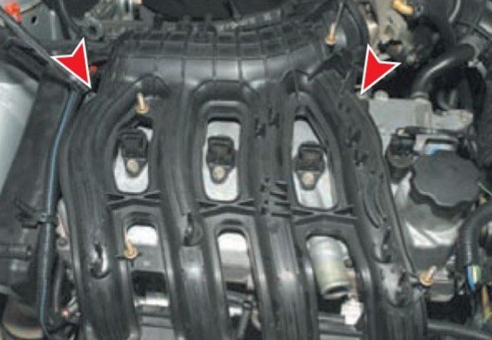 Верхние гайки трубопровода «Приоры»