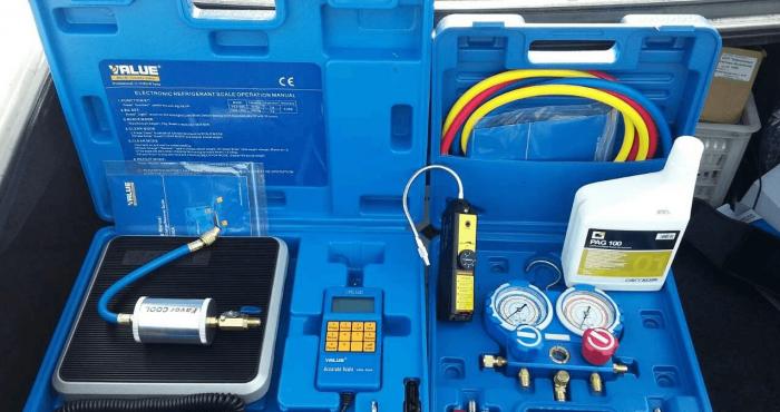 Многоразовый набор для заправки автокондиционера фреоном