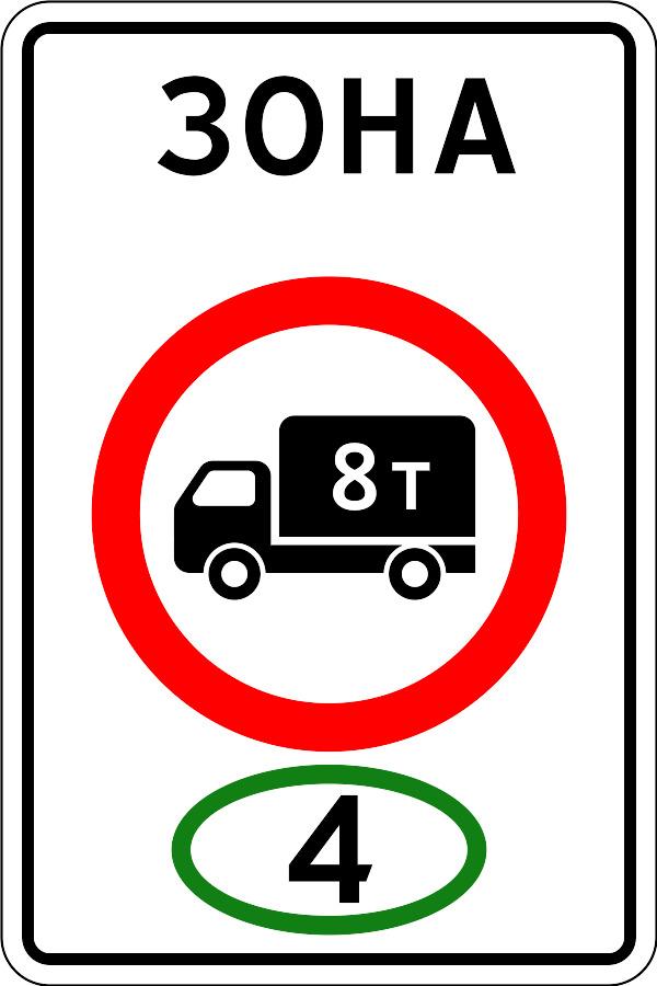Начало зоны ограничения экологического класса грузовых транспортных средств
