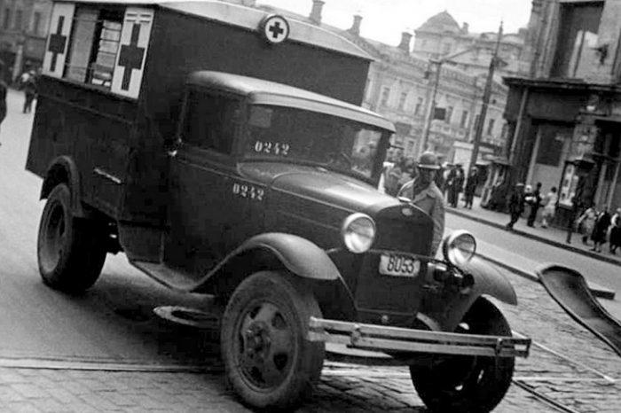 Медицинский кузов-фургон на базе ГАЗ-АА