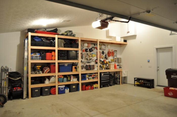 Стеллажи в гараже